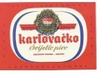 KARLOVACKO SVIJETLO PIVO pivska etiketa