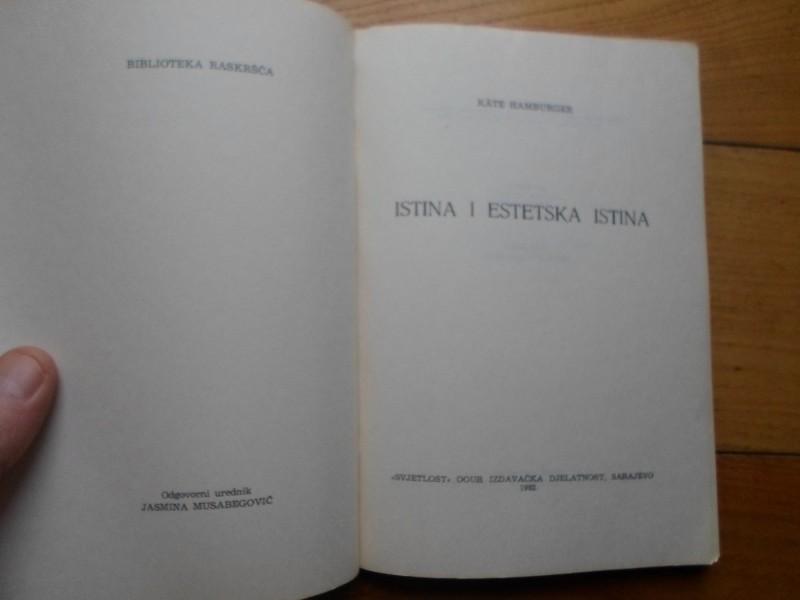 KATE HAMBURGER - ISTINA I ESTETSKA ISTINA