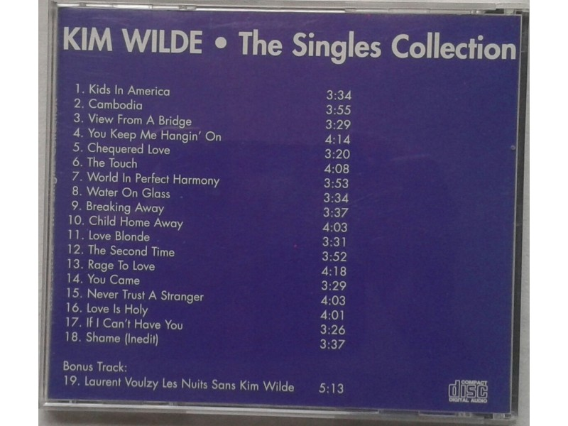 KIM  WILDE  -  THE  SINGLES  COLLECTION