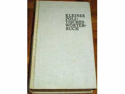 KLEINES POLITISCHES WORTERBUCH - Grupa autora