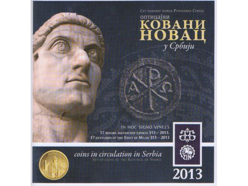 KOVANI NOVAC SRBIJE ; SET 2013 + MEDALJON CAR KONSTANTI