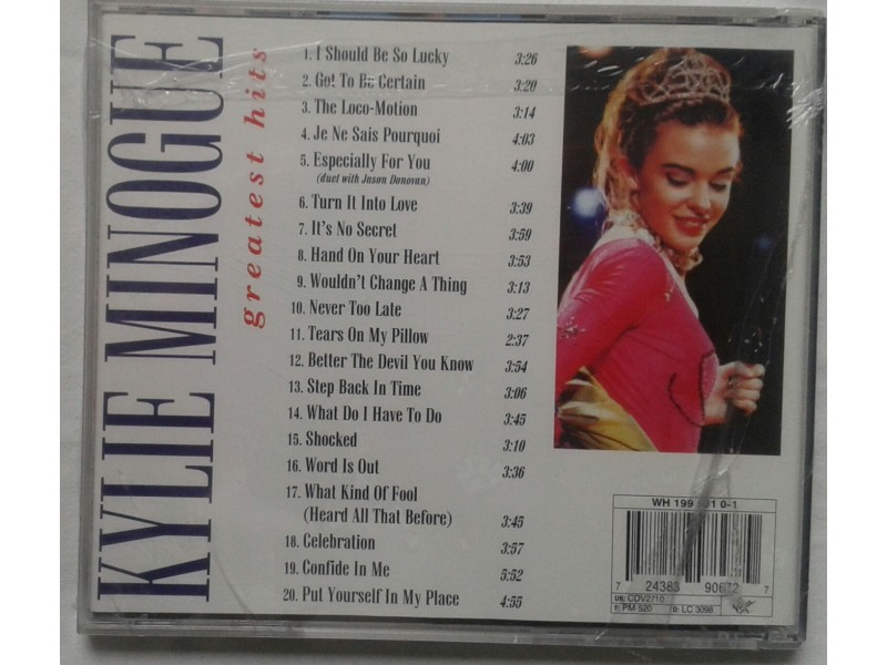 KYLIE  MINOGUE  -  Greatest  hits  1987  -  1994