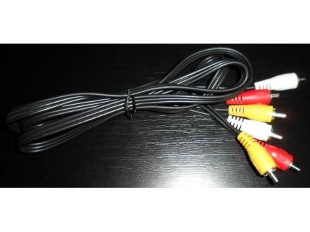 Kabl Svideo sa levim i desnim audio kanalom komponentni