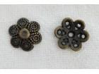 Kapice metalne bronzane 12mm - 3kom