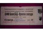 Karta `OFK Beograd - FK Crvena Zvezda`