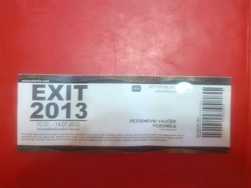 Karta za EXIT 2013