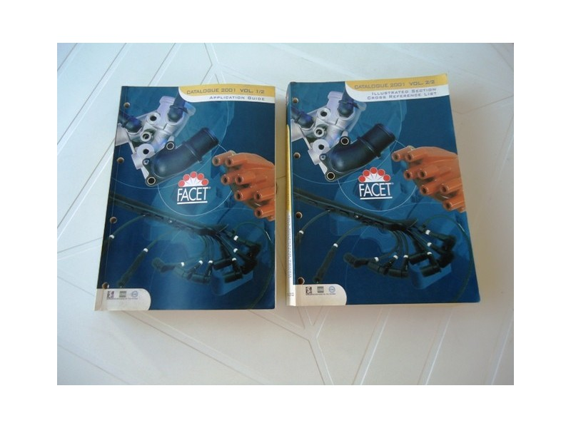 Katalog autoelektrike, FACET   I + II  knjiga