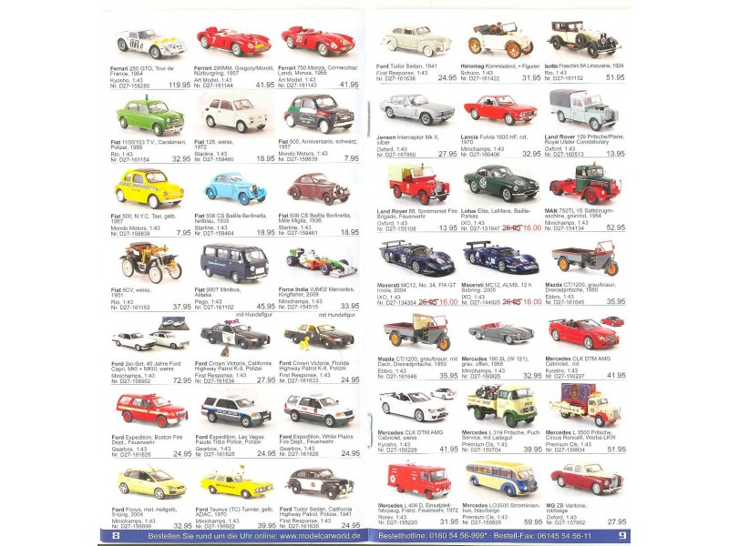 Katalog/prospekat za kolekcionarske modele (4)