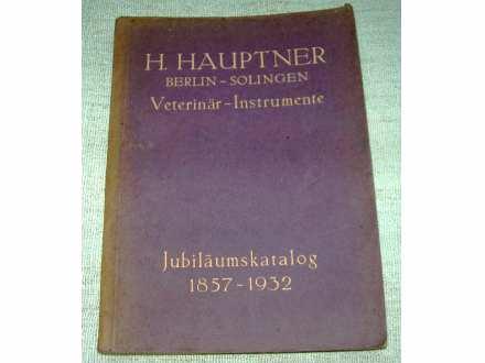 Katalog veterinarskih instrumenata iz 1932. na Nemačkom