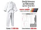 Kimono za tekvondo: dečiji - 4