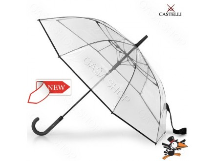 Kišobran Castelli Clear crni - Novo