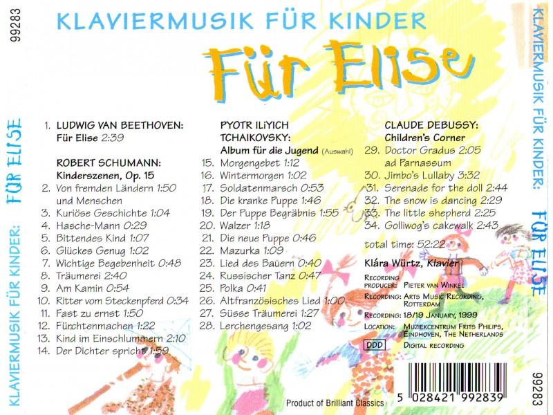 Klára Würtz - Klaviermusik für Kinder