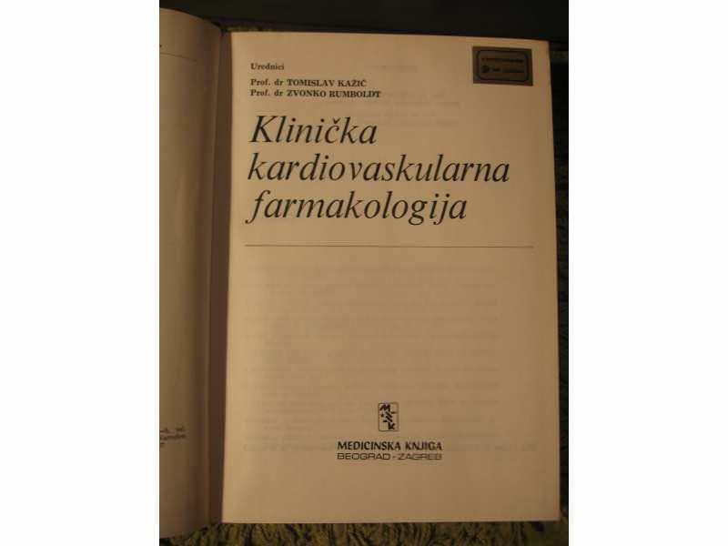 Klinicka kardiovaskularna farmakologija -Kazic,Rumboldt