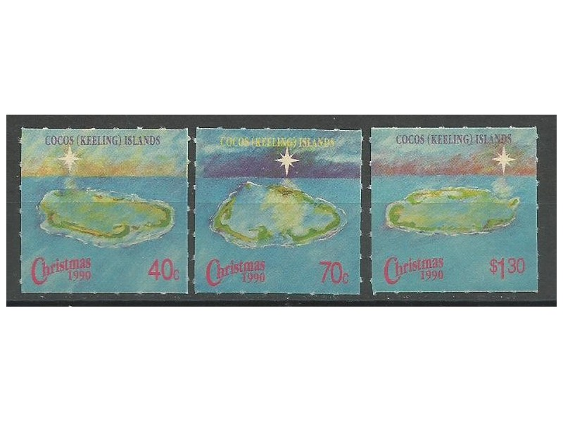 Kokosova ostrva,Božić 1990.,čisto