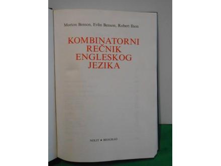 Kombinatorni rečnik engleskog jezika Morton Benson