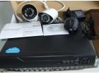 Komplet 2x HD KAMERE 1200 lin + DVR+2x20 m kabla+adapte
