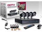 Komplet 4 KAMERE 1800 linija + DVR+4x20 m kabla+adapter