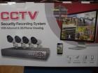 Komplet DVR+4 KAMERE 1800 linija+4x20 m kabla+NAPAJANJE