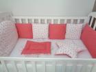 Komplet posteljine za bebe CRVENE ZVEZDICE
