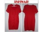Koralno crvena-prelepa haljina-gratis marama