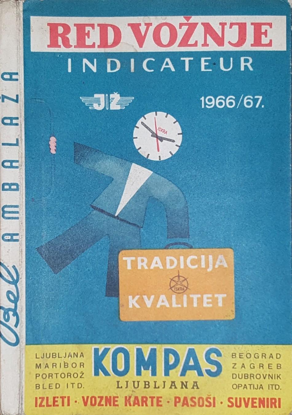 Korice Za Red Voznje Jugoslovenske Zeleznice 1966 67 Kupindo Com 61536889