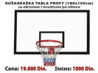 Košarkaška tabla Profi + obruč i mrežica