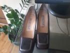 Kozna braon/bordo cipela