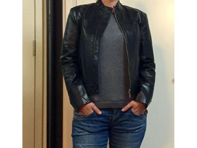 Kožna motorska jakna