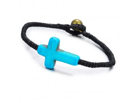 Kozna narukvica sa krstom / Kozne narukvice Krst