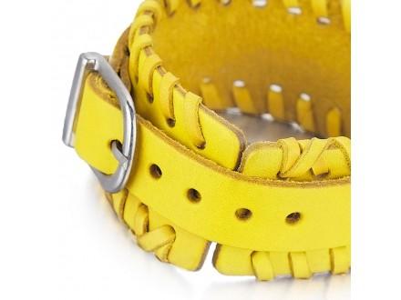 Kozna narukvica sa metalnom kopcom / Kozne narukvice