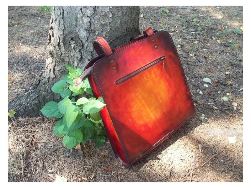 Kožna torbica Mirabel - ručni rad