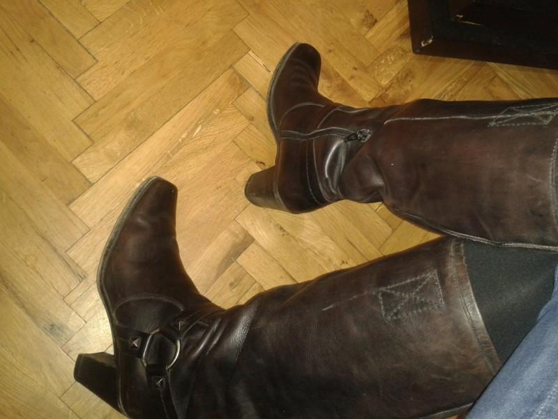 Kožne Čizme br.41
