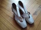 Kožne sandale-cipele bež boje br.36