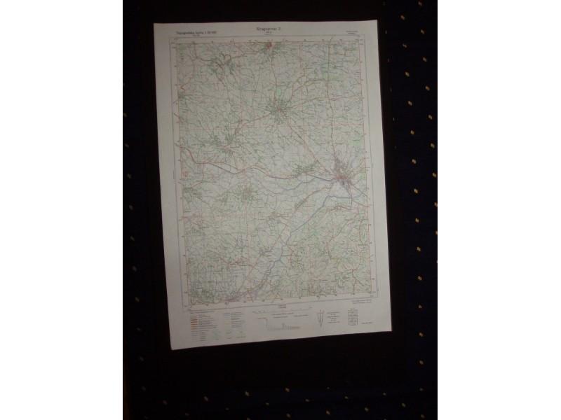 Kragujevac 2 Topografska Karta 1 50 000 480 2 Kupindo Com 31626689