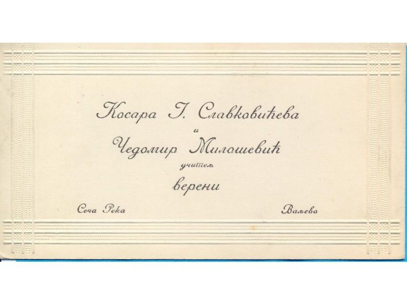 Kralj. Srbija.Kosjeric-Seca Reka. Vereni. 1916.