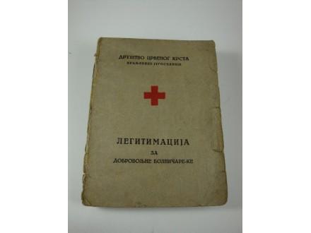 Kraljevina - legitimacija za dobrovoljne bolničare-ke