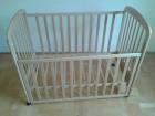 Krevetac za bebe, drveni, standardan 120x60