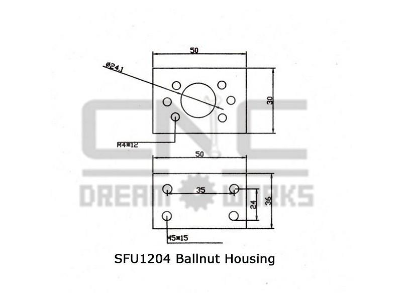 Kuciste matice SFU1204 - DSG12 - 24mm