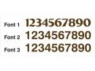 Kućni brojevi - visina 150 mm - neofarbani