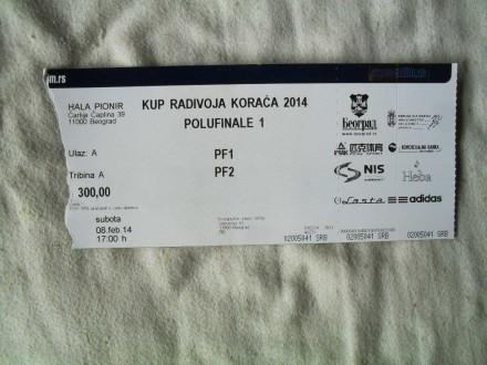 Kup Radivoja Koraca polufinale , 08.02.2014.