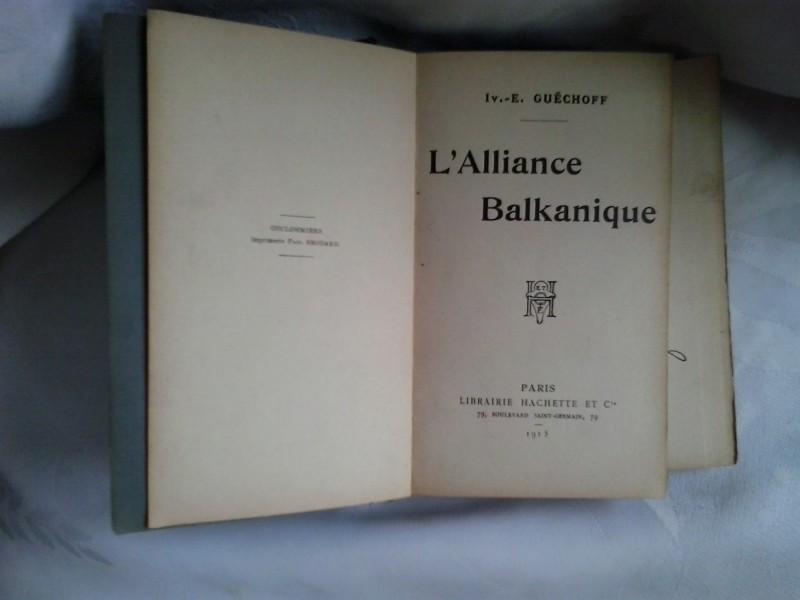 L Alliance Balkanique Balkanski savez na francuskom