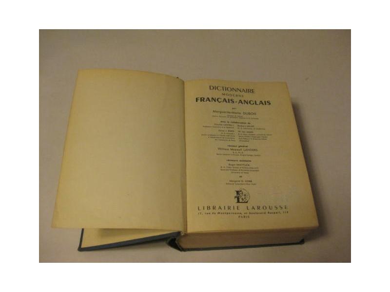 LAROUSSE FRANCAIS - ANGLAIS DICTIONNAIRE MODERNE