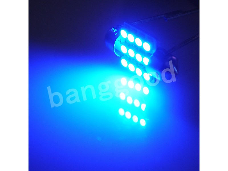 LED Sijalica - 31 mm - PLAVA - 12 SMD - 1 komad