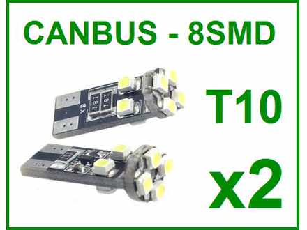 LED Sijalica - T10 CANBUS - 8 dioda - 2 komada (par)