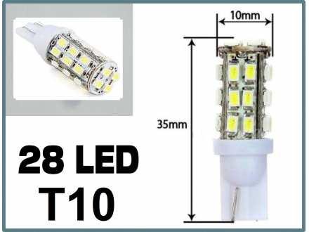 LED Sijalica - T10 pozicija - 28 dioda - 1 komad