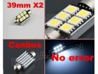 LED Sulfidne Canbus 39mm 6SMD 5050 2komada