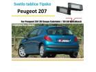 LED svetlo tablice Peugeot 207 tipski