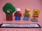 LEGO DUPLO Dve figure drvo i znak   /T24-66tn/