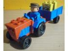 LEGO/DUPLO - traktor s prikolicom i vozačem