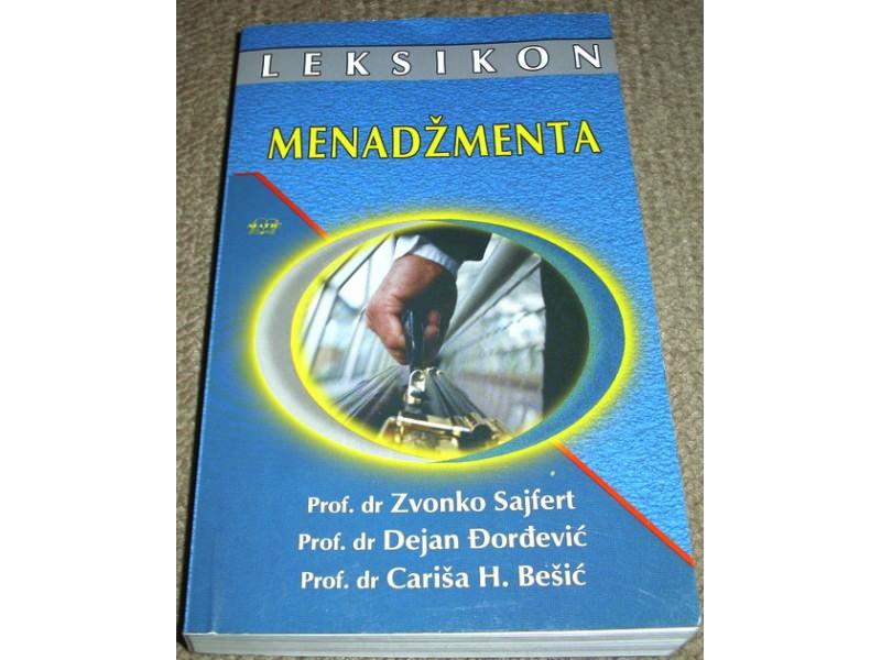 LEKSIKON MENADŽMENTA - Dr Zvonko Sajfert ...